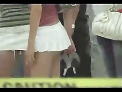 Japanese girl in short mini skirt