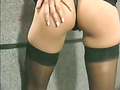 Vintage Anna Malle In Black Panties