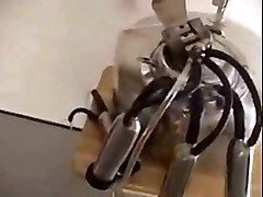 Guy have a Milking Machine on Cock