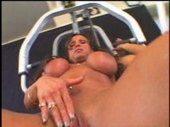 Nice Hot Big Clit Pussy In Gym