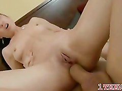 Teen in pantyhose fucked