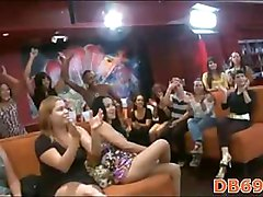 Dancers swinging dick on stage