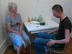 Mother Fucks With Own Son At The Kitchen