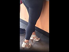 Spy video, Phat ass Mexican MILF in heels.