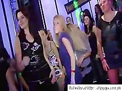 Hot dancing party in night club