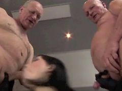 Filthy Teen Fuck With Three Old Man