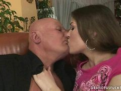 Hot Teen Enjoys Sex With Grandpa