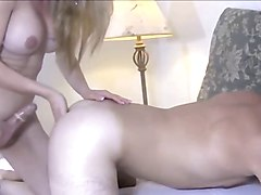 amatuer sexy blonde shemale nicely fucks her man