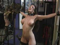Busty Brunette Is Tied Up And Fucked With By Her Nasty Master