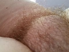 her soft belly, soft hairy pussy
