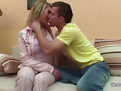 step-sister seduce german step-brother to fuck when mom away