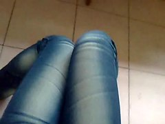 in not sister's jeans and pantyhose