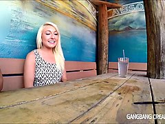 gangbang creampie - sweet young blonde