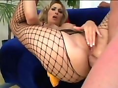 horny blonde anal sex and very dirty talk