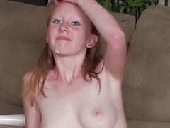 Gorgeous Ginger Teen Gets Hir Perfect Pussy Fucked !