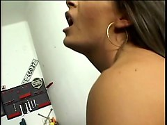 horny slut in sexy lingerie gets a backdoor pounding in garage