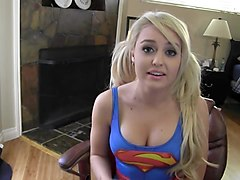 supermaryface supergirl swimsuit