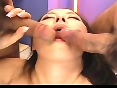 reo matsuzaka santa girl is fucked in mouth and hairy cunt by men