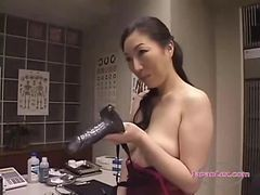 2 Asian Women In Lingerie Fucking Pussies With Strapons Fake Cumshot On The Bed In The Surgery