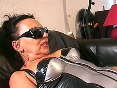 Granny Domme In Stockings Oral Worship