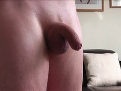 Soft Cock Foreskin Play Then Oily Fun And Huge Handsfree Cum
