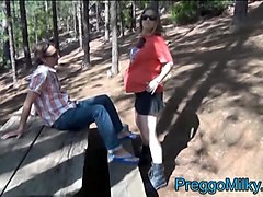 pregnant milf anal fucked in the forest