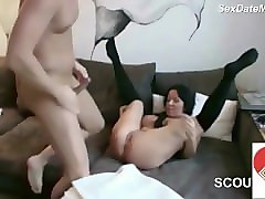 german stepmom seduce step-son to fuck her while dad