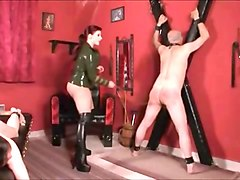mistres dominates two slaves ger