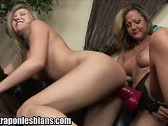 She Fucks Her Girlfriend With A Huge Strapon Dildo