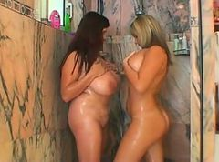 Kelly Kay and Bozena with a strap on