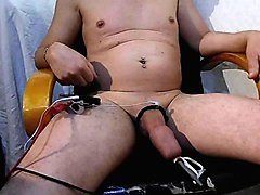 foreskin inflating with water prepuce gonfle eau electrostim