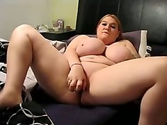 chubby perverted blond haired webcam whore had a dildo to masturbate