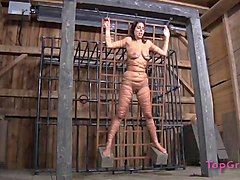 redhead slave with nice ass yelling when tortured in femdom seen