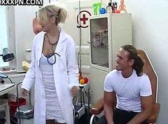 Hot nurse and lustful doc play with their patients.