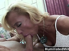 humiliatedmilfs  horny milf gets a young stud to stuff...