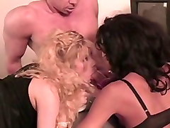 Incredible pornstar Anna Malle in hottest threesomes, blonde xxx video