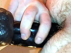 straight male riding wall dildo