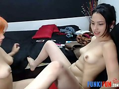 these cute webcam lesbians are always on fire and they know how to have fun