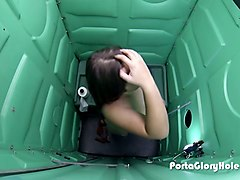 porta gloryhole 18 and fun and getting full of cum