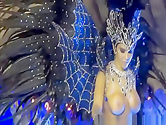 Hot Brazilian girls in carnival costumes