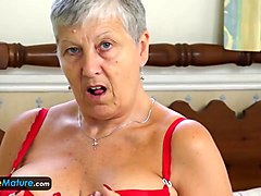 collection of awesome granny solo masturbation and seductive striptease