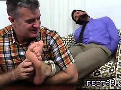 gay and foot cum chase lachance tied up, gagged & foot worsh