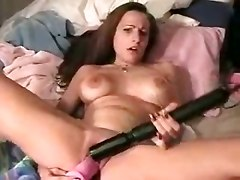 Girl Fucks Herself With Toys Till She Squirts Everywhere