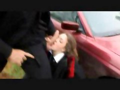 Schoolgirl Fucked Against Car On Country Lane