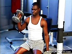 Two Hung Black Dudes In Gym Get In On