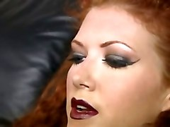Redhead In Stockings Strapon Domme