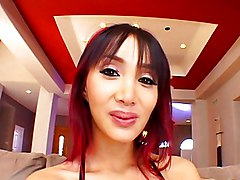 Katsuni Is The Prey For Two Cocks